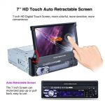 Autoradio 1 Din, MOGOI 7 Pollici HD Touch Screen Bluetooth MP3/MP5/GPS/USB/TF/aux/AM/FM Multimédia Player Stéréo Hands Free con Telecomando