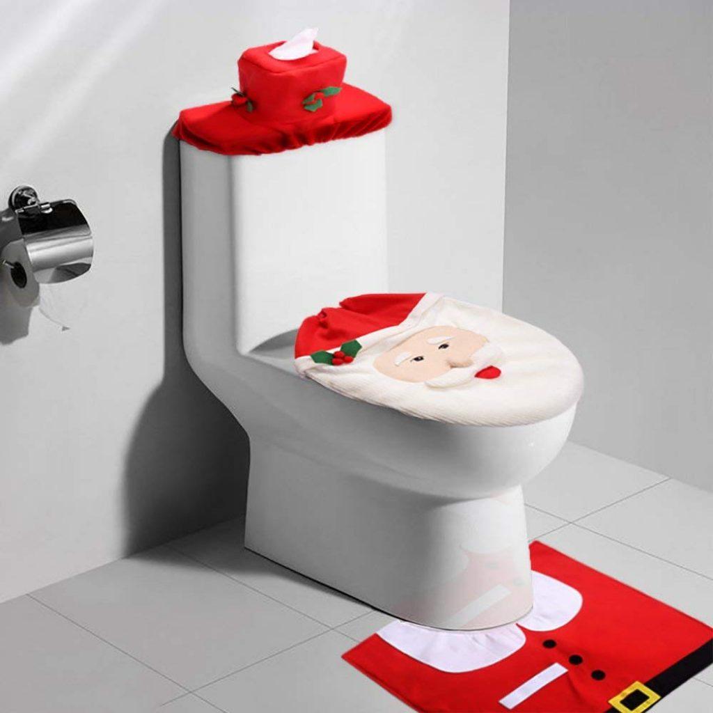 Set Bagno Babbo Natale.Zogin Set Di 3 Decorazioni Di Natale Per Bagno Planetdiscount