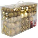Palle di Natale, in plastica, Plastica, gold, 100x
