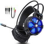 EasySMX Cuffie Gaming, Cool 2000 Stereo con Microfono per PC, Xbox e PS4, Blu
