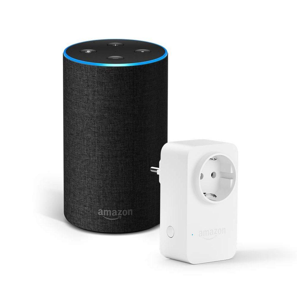 Amazon Echo (2ª generazione) -... Colore:Tessuto antracite Nome stile:+ Presa intelligente (9,99€ - Black Friday)