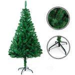 Sunjas Albero di Natale, Materiale PVC, vere pigne di abete 150cm