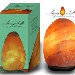 MAGIC SALT LIGHTING FOR YOUR SOUL Lampada di Sale dell Himalaya (4-6 kg) SCATOLA Originale Deluxe