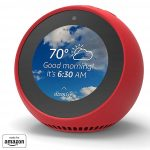 Mission - Custodia in Silicone per Amazon Echo Spot, Rosso