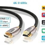 IBRA 1 metri(2 Pack) cavo HDMI Ultra HD 4k@60Hz - IBRA PRO GOLD Cavo HDMI v2.0 | High Speed con Ethernet | Full HD 1080p / 4K Ultra HD 2160p / 3D / ARC e CEC