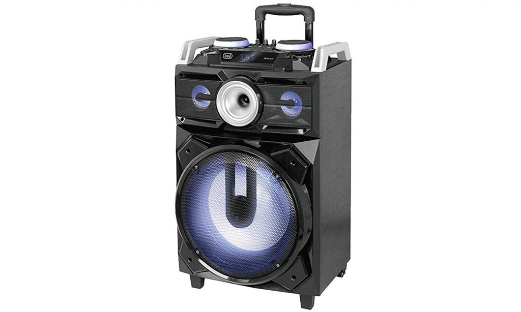 Trevi XFEST XF 1800 KB Altoparlante Amplificato Portatile con Trolley, Mp3, USB, Bluetooth e Batteria Intregrata, Karaoke Party Speaker con Microfono incluso