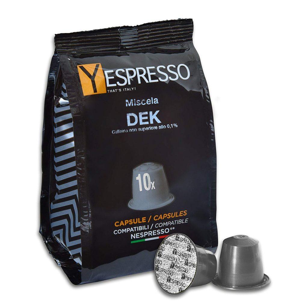 Yespresso Capsule Nespresso Compatibili Decaffeinato - Confezione da 100 Pezzi Taglia:100 capsule