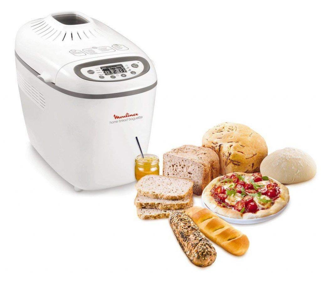 Moulinex OW6101 Home Bread Baguette Macchina del Pane con 16 Programmi Preimpostati, Capacità Extra fino a 1.5 kg