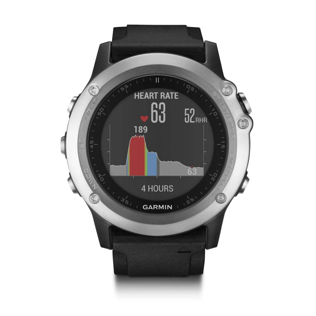 Garmin Fenix 3 HR Smartwatch GPS Multisport, Sensore Cardio al Polso, Display a Colori, Altimetro e Bussola, Nero/Grigio