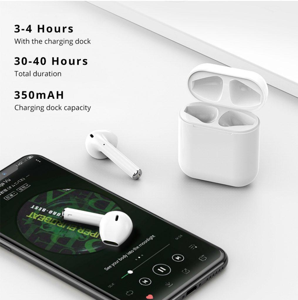 auricolari tws real stereo sound i12 premium desig non-in-ear