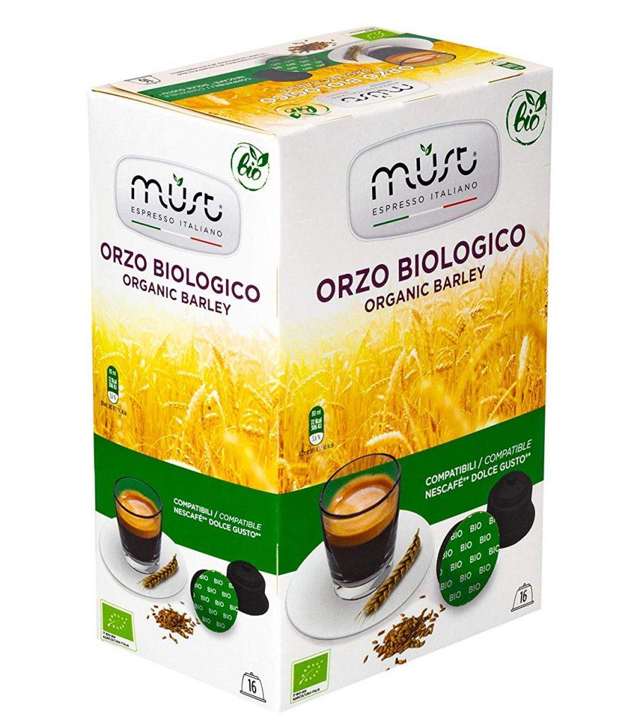 Must Espresso Italiano Caffè in Capsule Solubile Organic Barley Orzo Biologico Compatibile Dolce Gusto® - Confezione da 6 x 16 pezzi