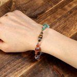 CrystalTears Bracciale Gioielli Regolabile 7 Chakra Pietra Naturale Guarigione Meditazione Bilanciamento Yoga
