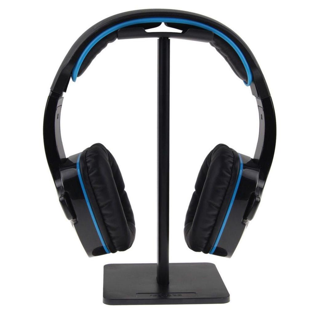 ISWEES Mobile Headset Stand Supporto per Cuffie Poggia Auricolari in Alluminio,Ottimo per Tutti I Modelli di Cuffie Sennheiser,Sony,Audio-Technica Bose