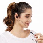 Auricolari in-ear, Bass – cuffie auricolari con microfono e controllo del volume per Apple IOS e Android computer PC tablet, nero