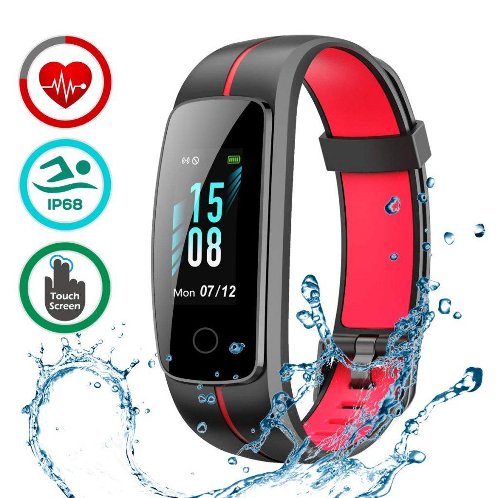LATEC Fitness Tracker [Ultima Versione], Orologio Fitness Activity Tracker Smart Bracelet Impermeabile IP68 Pedometro Smartwatch con 14 modalità