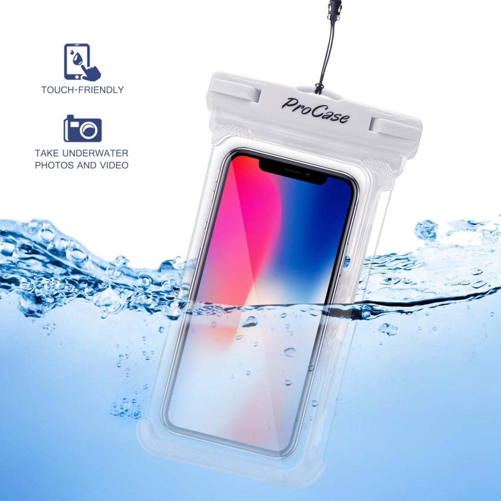 (2 Pack) ProCase Custodia Impermeabile Universale per iPhone Xs Max XR XS X 8 7 6S Plus, Samsung Galaxy S10/S10e/S9 S8 +/Note 9 8 6, Pixel 3 XL 3 2 XL HTC