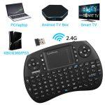 Leelbox [Layout Italiano] Mini Tastiera, QPAU 2.4Ghz Mini Tastiera Senza Fili Wireless con Touchpad per PC, Pad, Android/Google TV Box, PS3, Xbox 360, HTPC