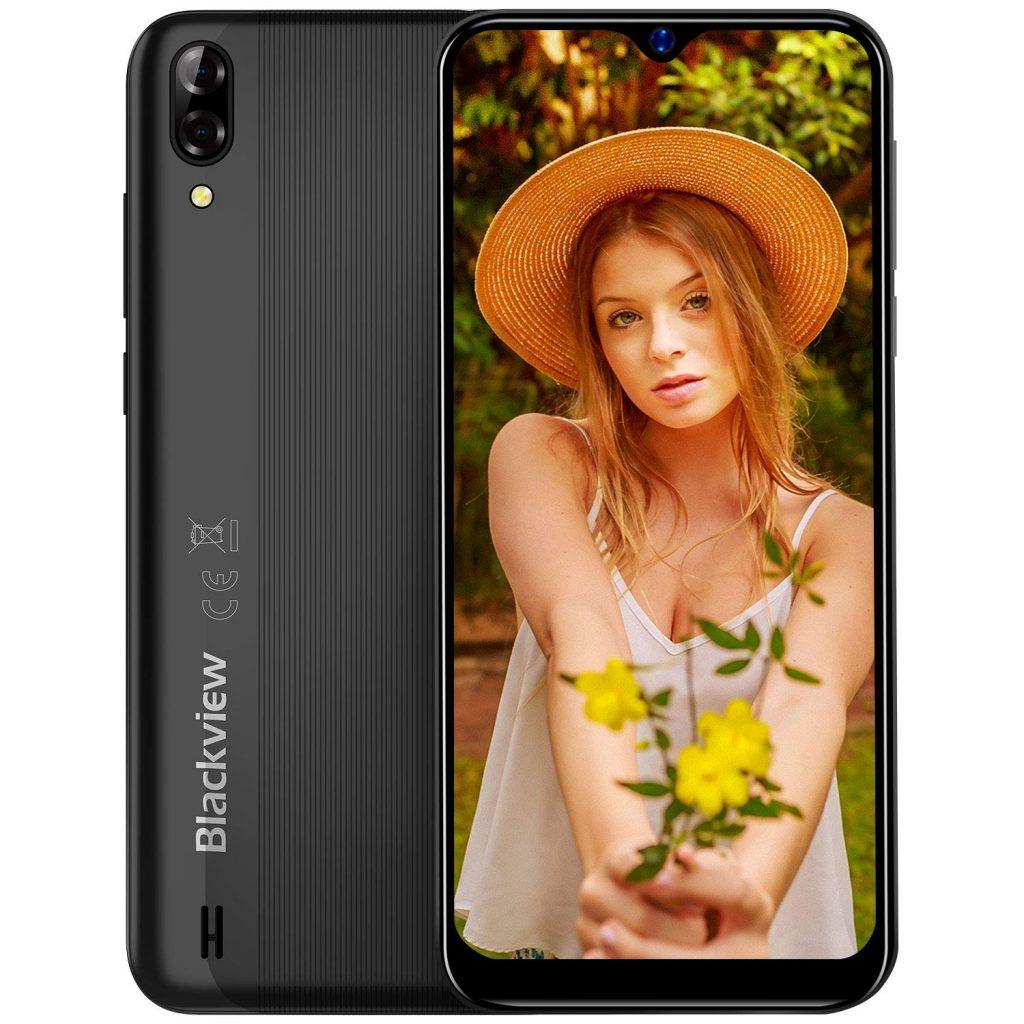 Smartphone Offerta del Giorno 2019, Blackview A60 6.1'' Waterdrop Schermo, 13MP+5MP, 4080mAh Batteria Cellulari Offerte, 128GB Espandibili Cellulari, Dual SIM Telefonia Mobile, 16G ROM, Android 8.1 [Classe di efficienza energetica A+++]