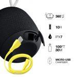 Ultimate Ears Wonderboom Altoparlante Wireless Bluetooth, Resistente agli Urti e Impermeabile con Connessione Doppia, Nero