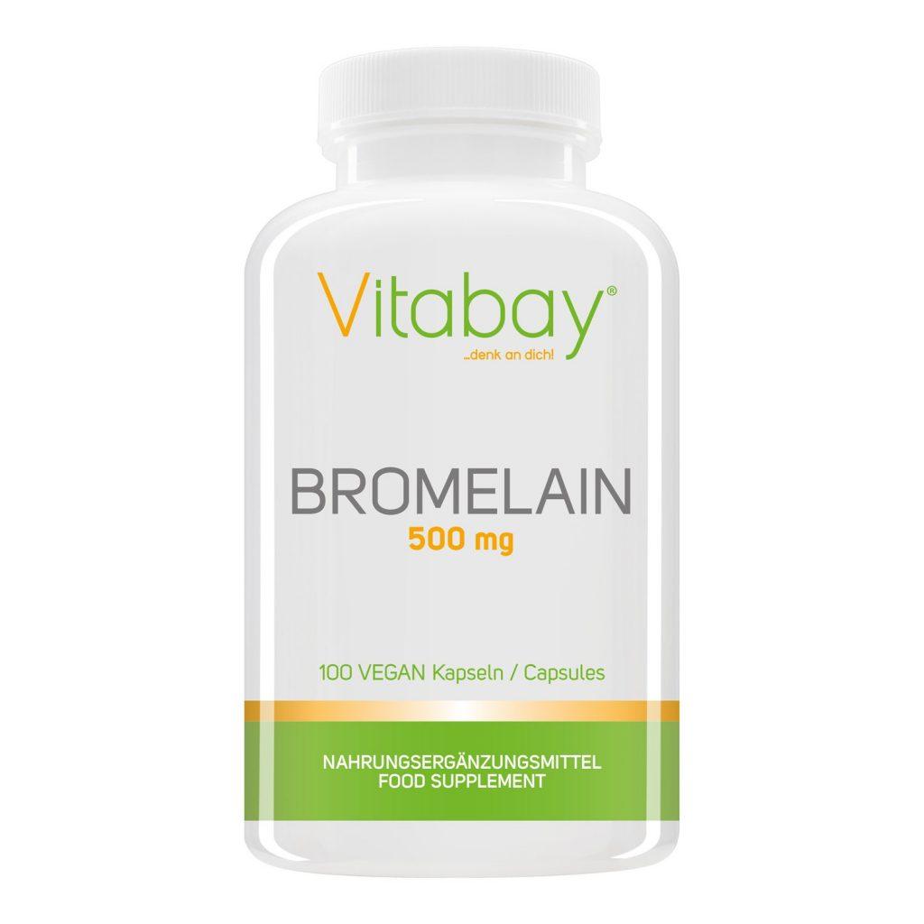 Bromelina 500mg 1200 F.I.P, enzimi naturali all'ananas, alta dose - 100 capsule Vegan