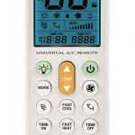Meliconi AC 100 Telecomando Universale per Condizionatori/Climatizzatori Compatibile con la Maggior Parte dei Marchi, con Schermo Retroilluminato e Funzione Torcia