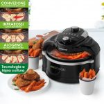 Salter EK2386-IT Forno ad Aria 1000 W, un modo salutare di cucinare, 3 Tipologie di Cotture, Capacità 7 Litri, Include cestello, anello in acciaio e pinze