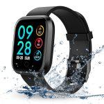 Fitness Smartwatch, RIVERSONG Orologio Fitness Tracker Impermeabile Bluetooth Smart Watch con Cardiofrequenzimetro Pedometro Chiamata/Messaggio Promemoria per Android IOS