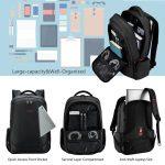 Fubevod Tigernu Business Laptop Backpack sottile antifurto computer di viaggio zaini borsa per laptop impermeabile per gli uomini/donne 15.6 pollici Nero