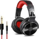 Cuffie Over Ear con isolamento acustico (Rosso Nero)