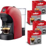 Lavazza a Modo Mio, Macchina per Caffé Espresso Tiny con 64 Capsule Incluse, Rossa