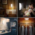 Luce Notte LED - Lampada Guardaroba con Sensore Movimento [2 Pz]