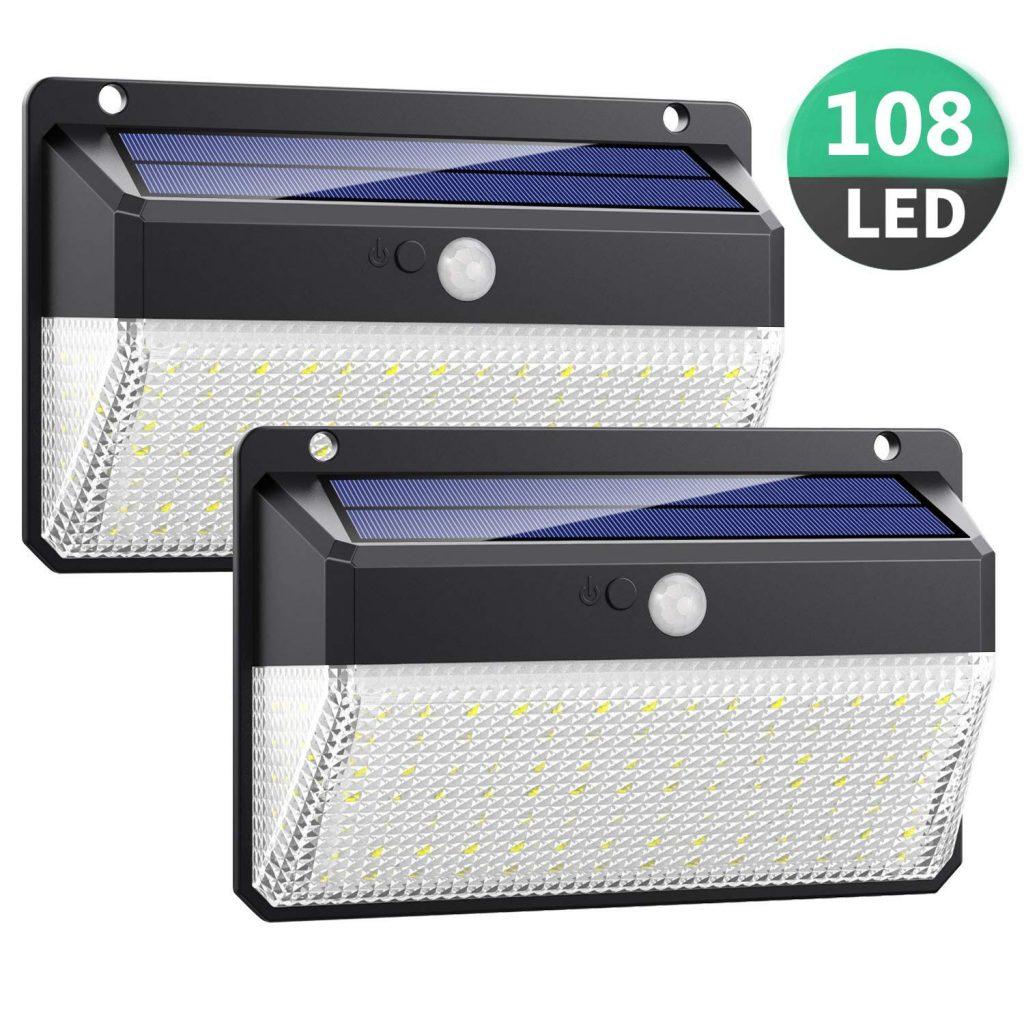 Luce Solare LED Esterno con Sensore di Movimento [2 Pezzi]