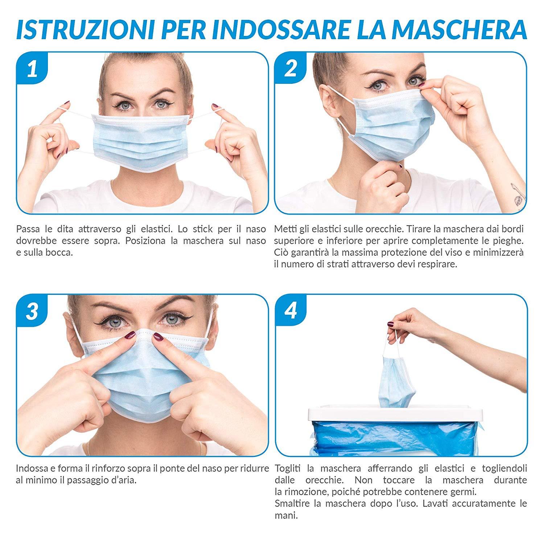 maschera facciale per respirare monouso