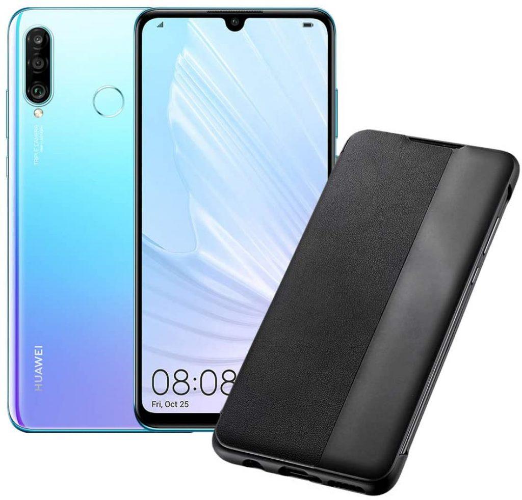 HUAWEI P30 Lite Smartphone Cristallo + Cover