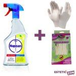 Napisan Spray igienizzante 750ml + 10 guanti taglia M