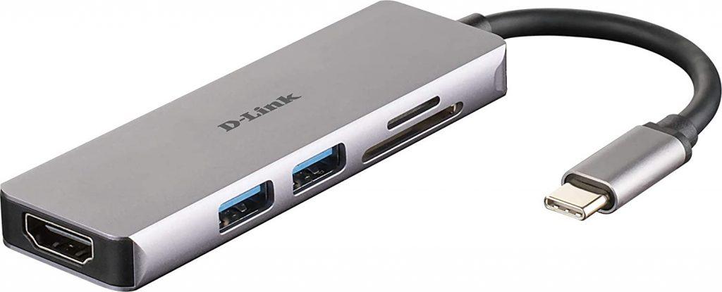 D-Link Adattatore USB C 5 in 1