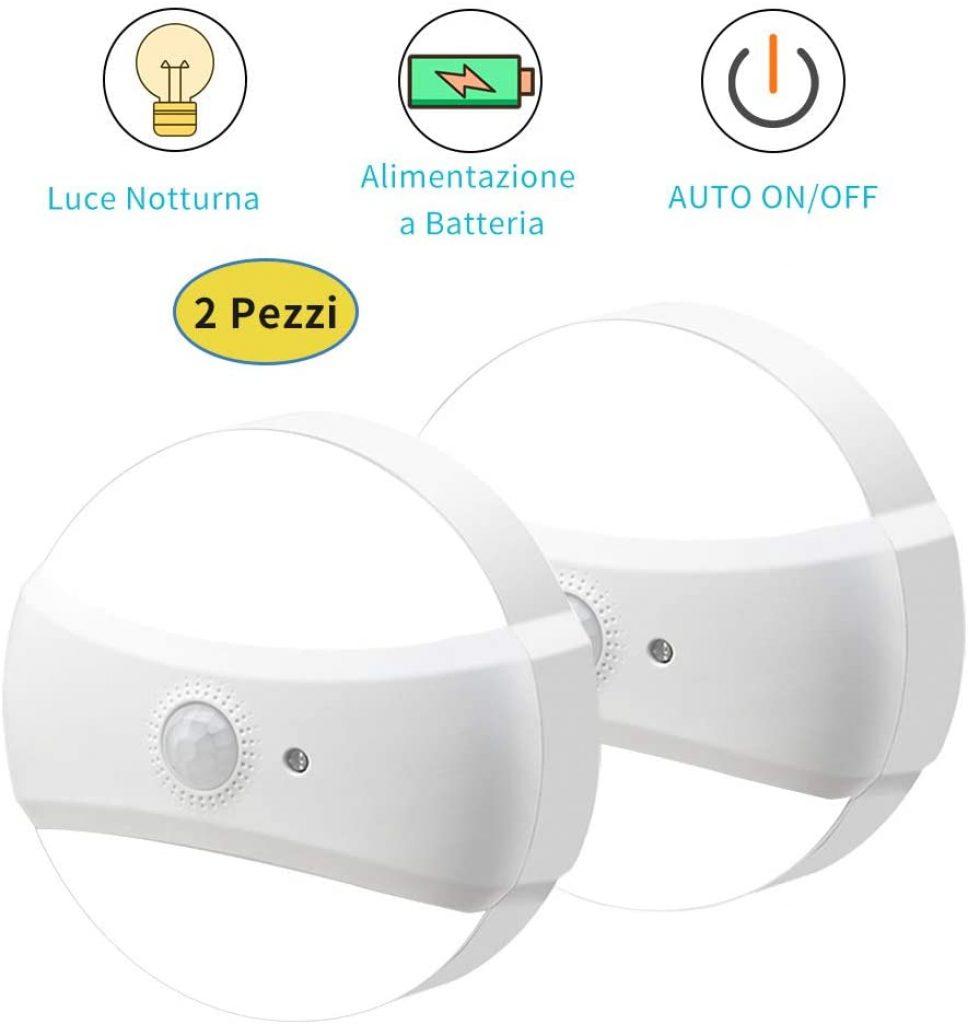 Luce Notturna LED con Sensore di Movimento - 2pz