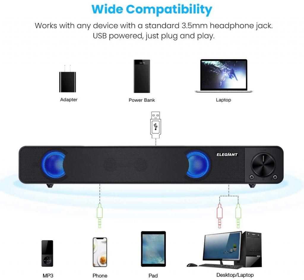 Altoparlante Stereo Portatile per Computer Notebook