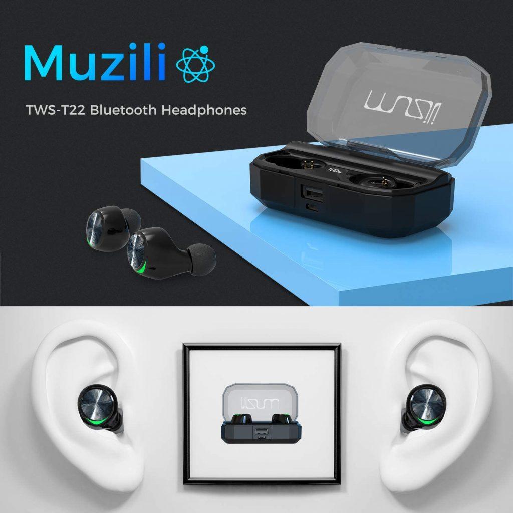 Auricolari Bluetooth 5.0 con Custodia di Ricarica