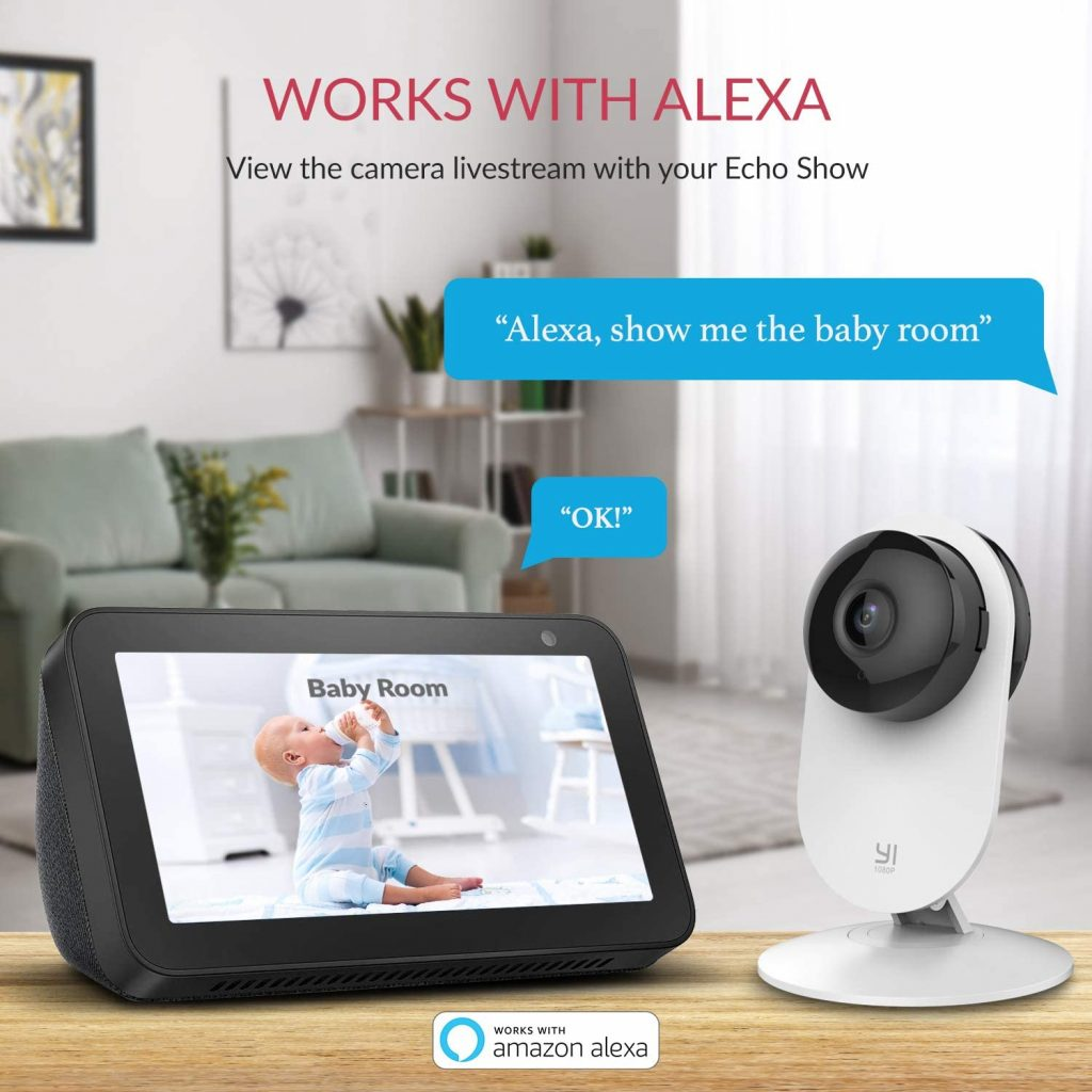 YI Home Camera 1080p -Telecamera Interno Compatibile Alexa
