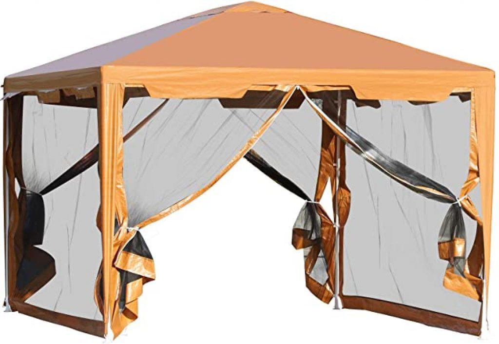 Tenda Gazebo da Giardino Pieghevole - 395x295cm