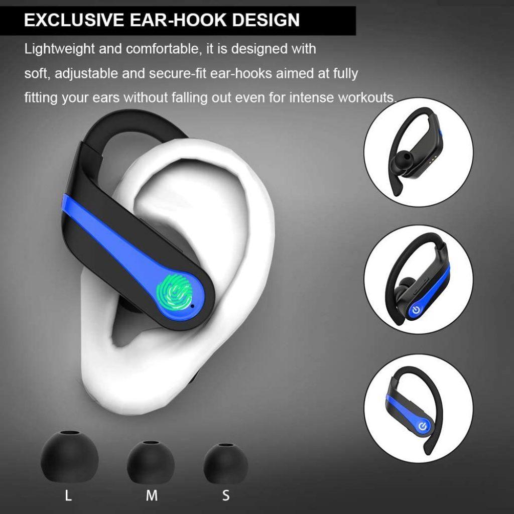 Cuffie Wireless In-ear con Bassi Potenziati