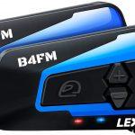 LEXIN 2X LX-B4FM Interfono moto, Bluetooth