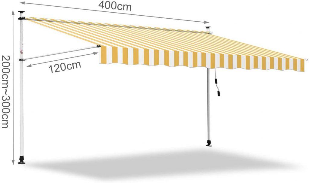 Tenda Parasole Rettratile Avvolgibile per Esterno