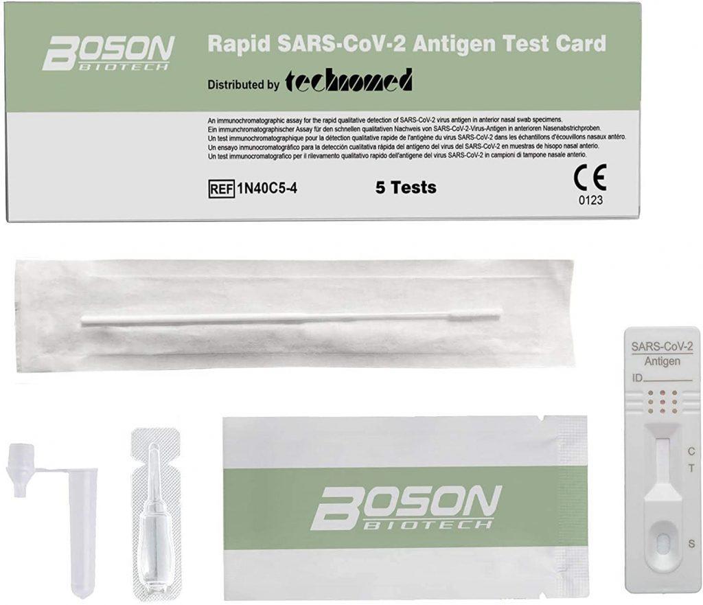 Boson Test Rapido per l'Antigene SARS-COV-2 - 5 test