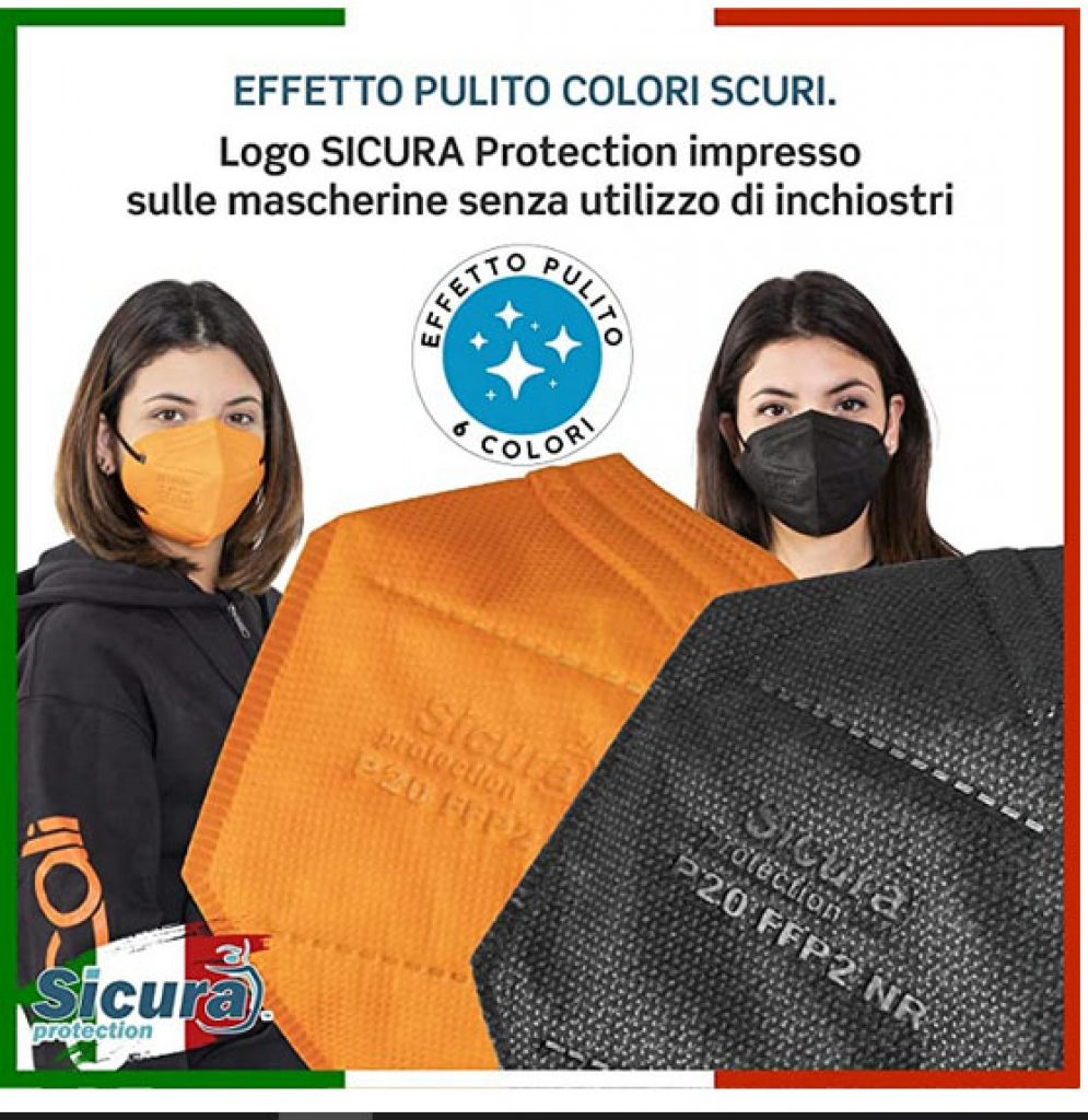 48 Mascherine FFP2 Certificate CE Colorate Made in Italy