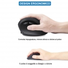 Mouse Verticale Ergonomico Wireless