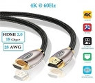 ➰ IBRA PRO GOLD Cavo HDMI v2.0 | High Speed – 2 pezzi
