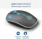 Mouse Wireless Ricaricabile Silenzioso