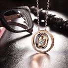 📿 Collana Placcato Oro Rosa per la Mamma – Ti Voglio Bene Inciso e Cristallo Swarovski